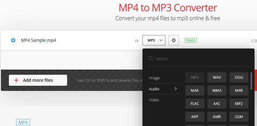 convert mp4 to mp3 using convertio