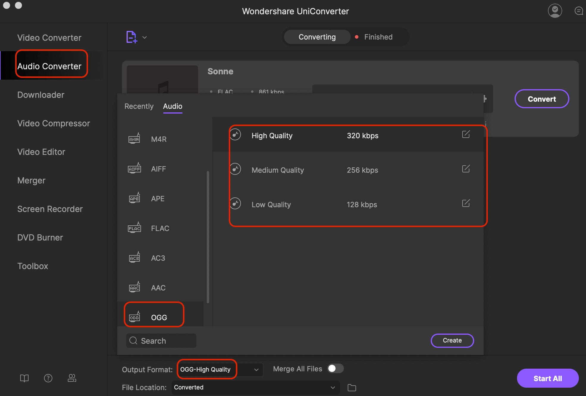 How to Convert OGG to FLAC or Convert FLAC to OGG