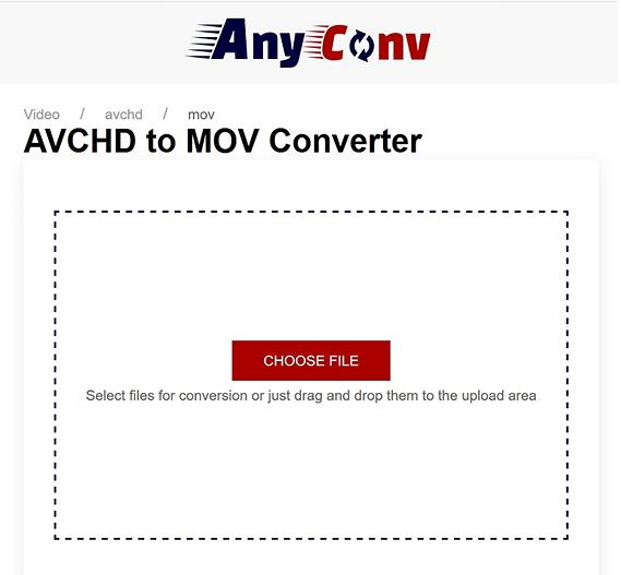 convert avchd to mov by anyconv