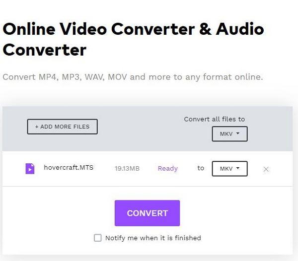 convert avchd by online uniconverter