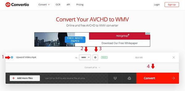 The Easy Way to Convert AVCHD to WMV Online