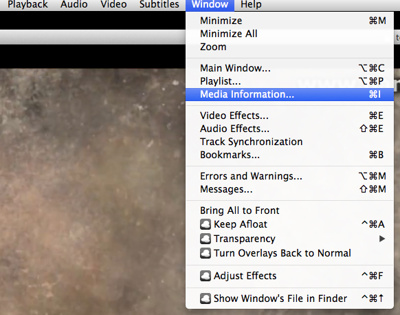 add metadata to MP4 with vlc step 1