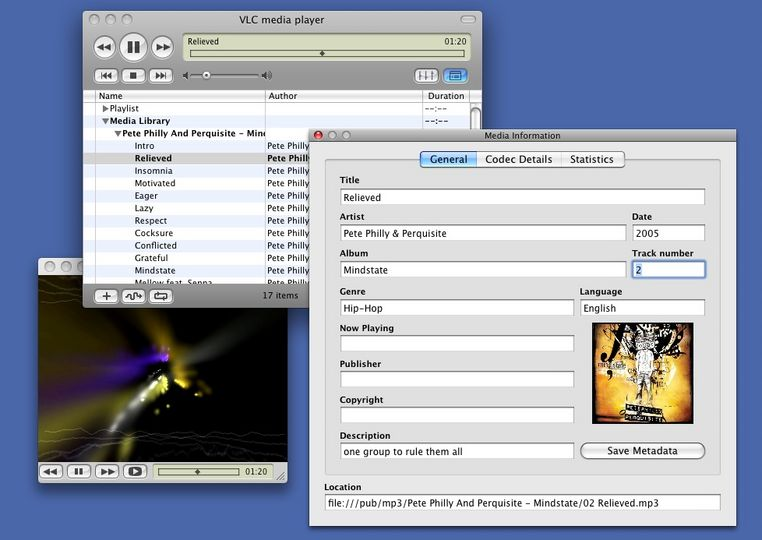 add metadata to MP4 with vlc step 2