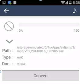 android convert aac to mp3
