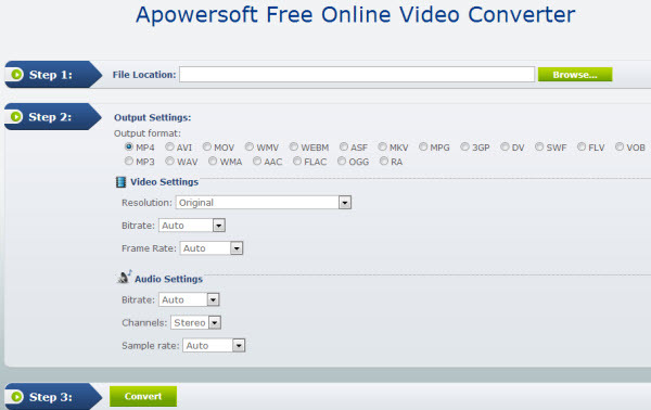 online mp4 to avi converter