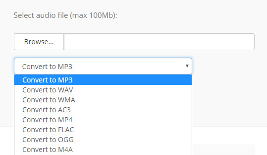 online convert aac to mp3