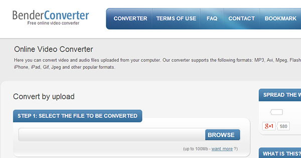 convert video to mp4 benderconverter