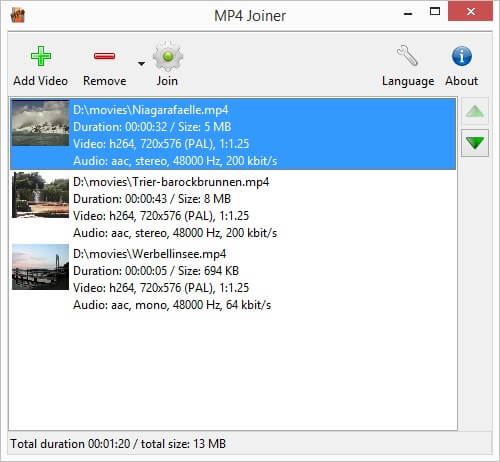 Top 20 MP4 Joiner to Merge MP4 on Mac/Windows/iPhone/Android