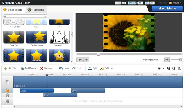 trim mp4 online using FileLab Video Editor