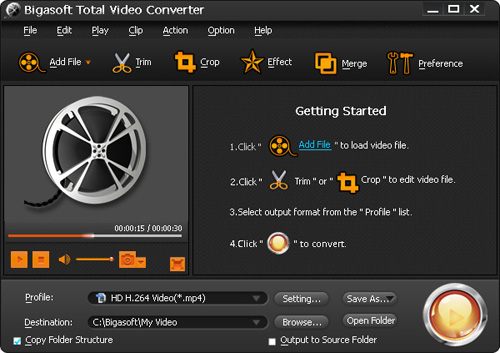 convertitore video per mac bigasoft