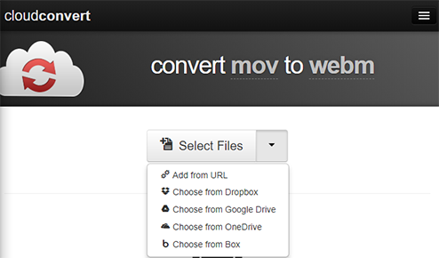 cloudconvert mov to webm
