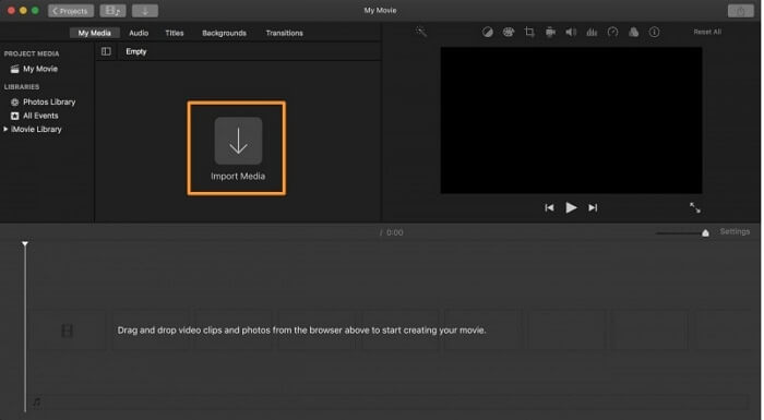 add mp4 to imovie