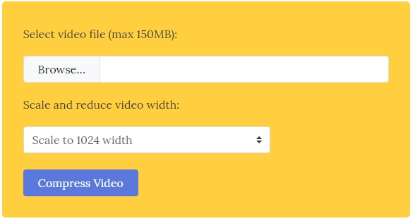 Compress Video Online for WhatsApp