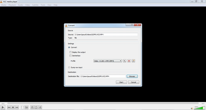 M3U to MP4 using VLC Media Player step 2
