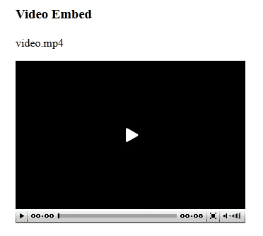 How to Embed MP4 in HTML step 2