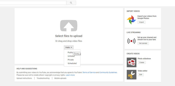 upload mp4 to youtube