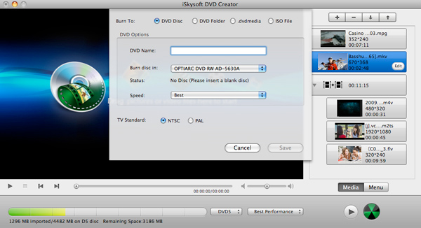 convert android videos to dvd