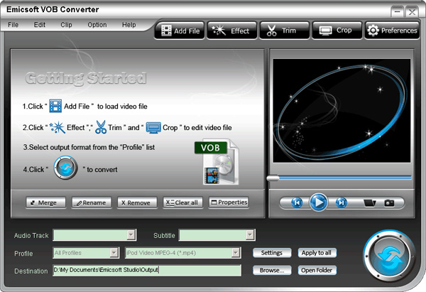 free convert vob to mp4