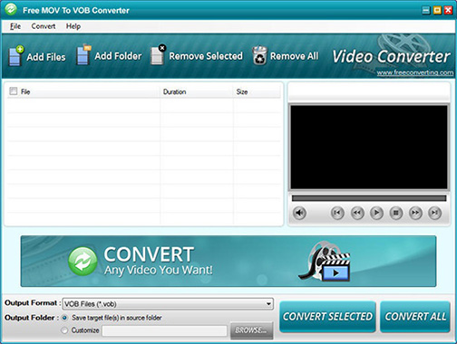 free mov to vob converter