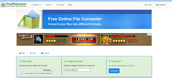 convert dvd to mp4 online with Free File Convert