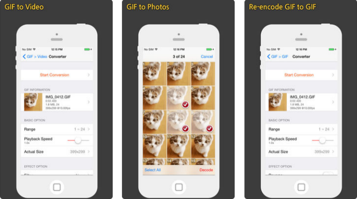 convert gif to iphone video