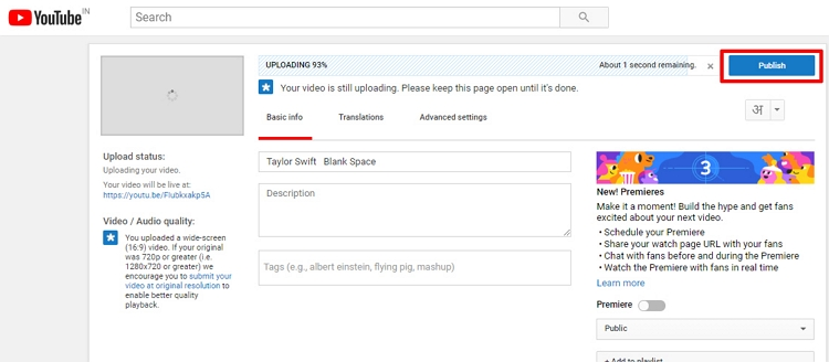 Upload Long Videos to Twitter step 4