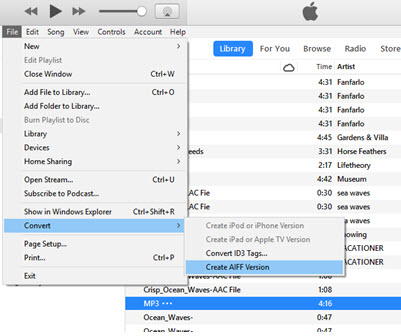 convert mp3 to aiff mac