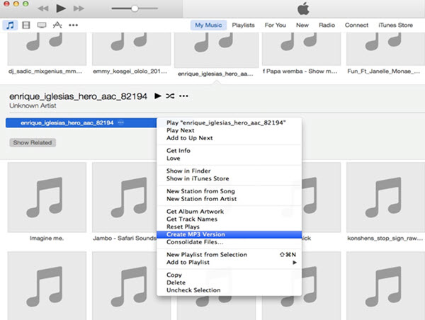 convert apple songs to mp3