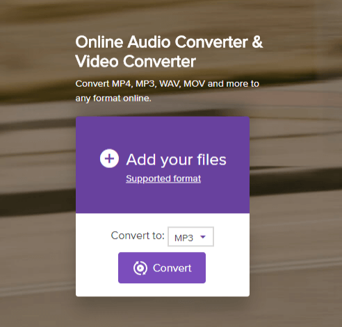 MPEG4 to mp3 converter