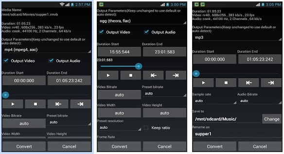 Convert MKV to AVI in Android