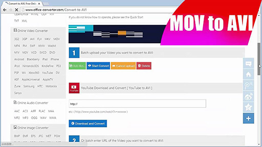 Top 10 Tools to Convert MOV to AVI Online