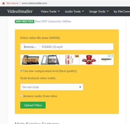 free mp4 compressor VideoSmaller