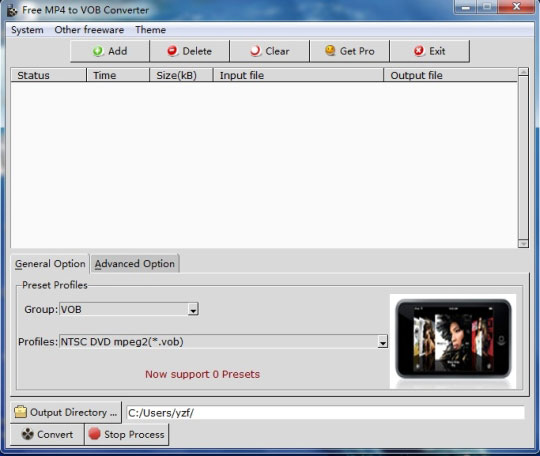 MP4 to VOB File Converter