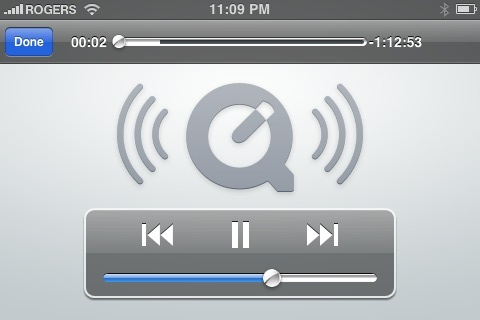 play quicktime movie on iphone