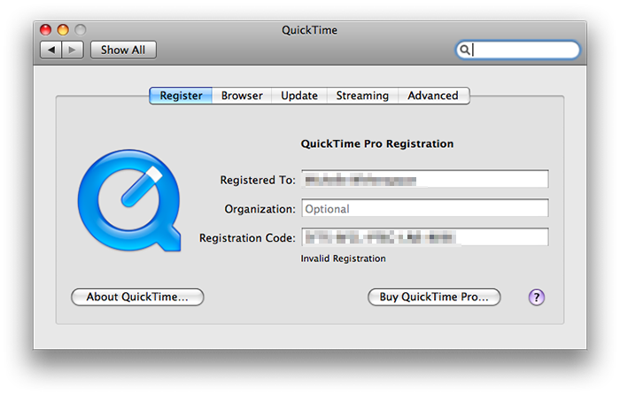 QuickTime Player Latest v7.7.6.80.95 Pro Serial Number