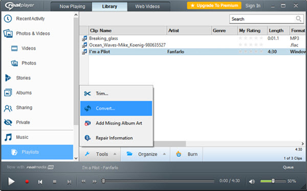 convert realaudio to mp3