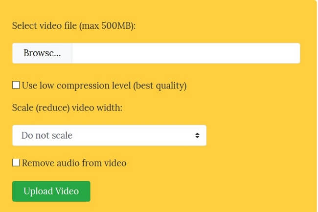 click on compression quality box