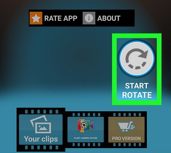 rotate MP4 on android step 1