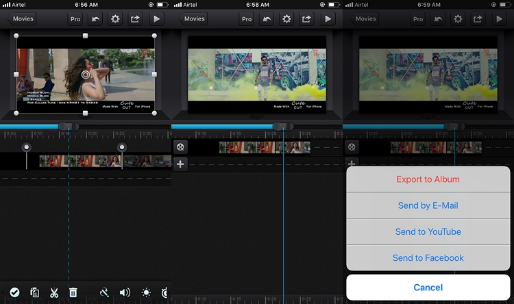 How to Shorten iPhone Video usingCute Cut step 3
