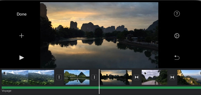 cut mp4 on iphone with iMovie
