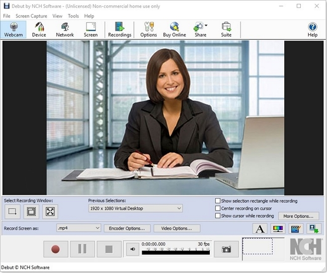 free screen recorder mp4 Debut Video Capture and Screen Recorder Software