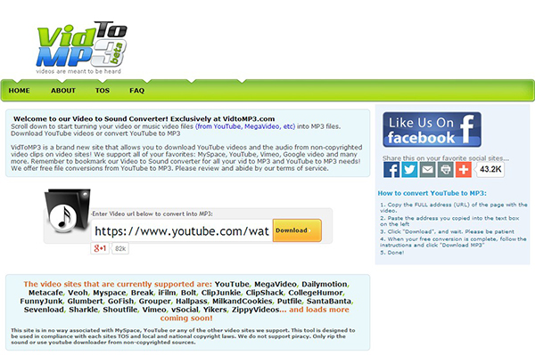 flv to mp3 converter free online