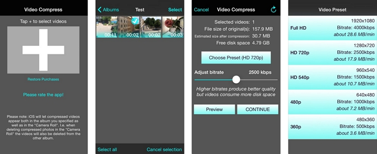 Video Compressor App for iPhone Video Compress - Shrink Vids