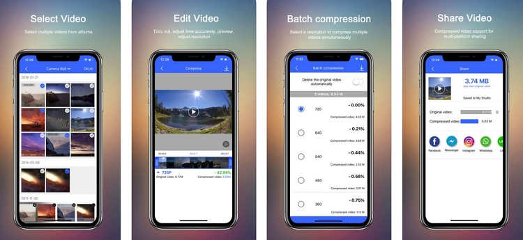 Video Compressor App for iPhone VidCompress