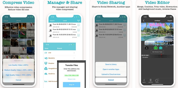 Video Compressor App for iPhone Video Compress - Video Compressor - Reduce the size