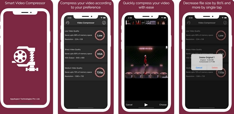 Video Compressor App for iPhone Smart Video Compressor