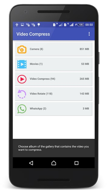 Video Compressor App for android with Video Compress app