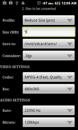 step 2 for how to compress Video for WhatsApp android