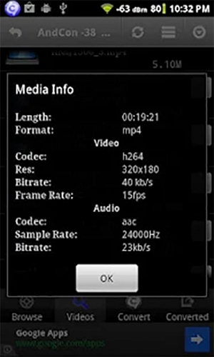 step 3 for how to compress Video for WhatsApp android