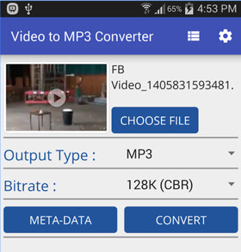android convert mp4 to mp3